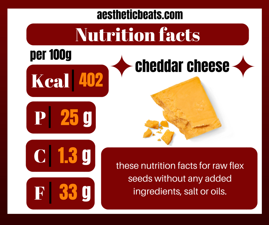 Cheddar Cheese Nutrition Facts Aestheticbeats